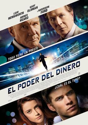El nuevo trabajo de Liam Hemsworth, 'El poder del dinero', se estrenará el 28 de febrero en España. Cartel El poder del dinero. Cartel Paranoia