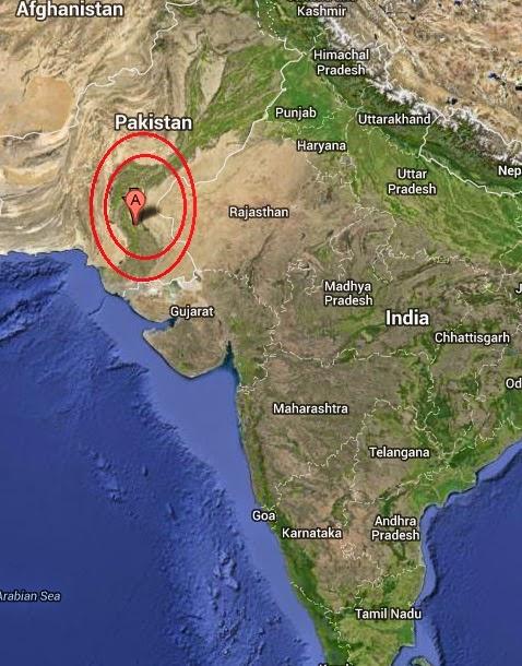Magnitude 4.1 Earthquake of Jam Sahib, Pakistan 2014-09-06