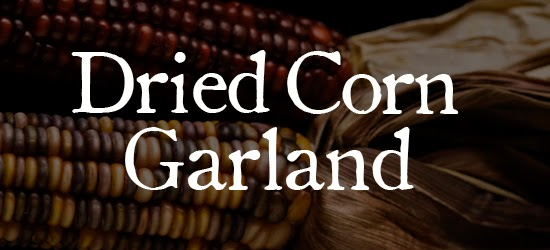 Dried Corn Garland