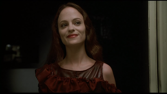 MAY (2002): May (Angela Bettis) dressed to kill on Halloween