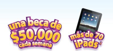 premios ipads 16GB Básica y una Beca Escolar por un valor de $50,000 concurso enfalogros de enfagrow Mexico 2011