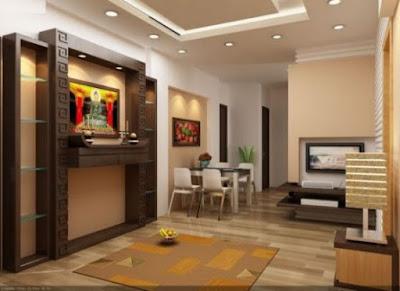 Những mẫu phòng khách có bàn thờ thiết kế hiện đại