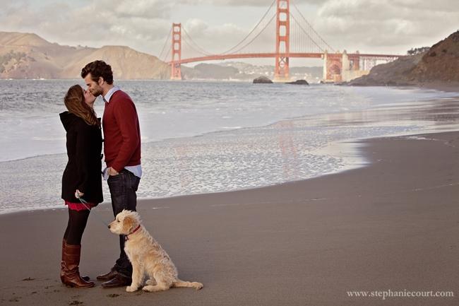 """""""baker beach engagement photos"""""""