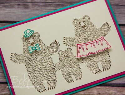 Bear Hugs Card inspired by Goldilocks and the Three Bears - New Stamp Set available from 5 January 2016 - details here