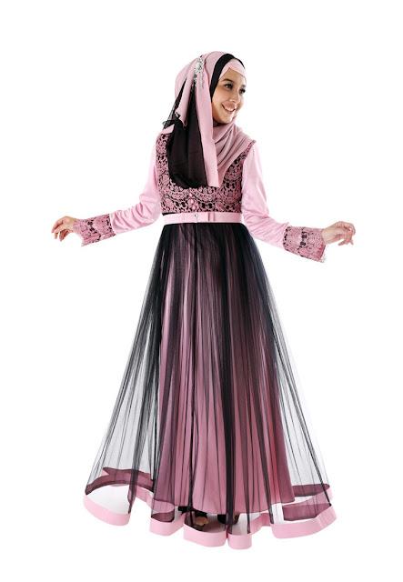 Model Baju Gamis Pesta Kombinasi Brokat Cantik