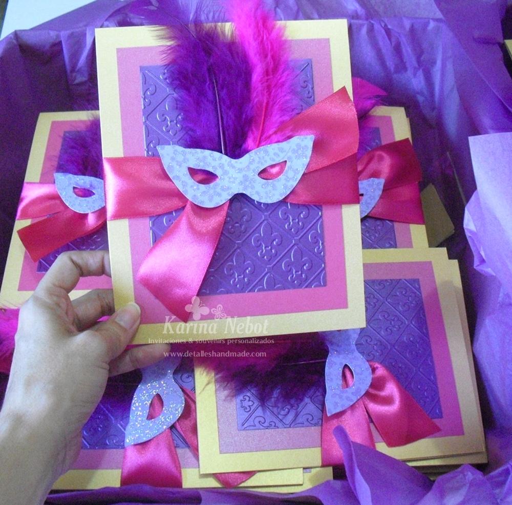 Paper Creations by Karina: Masquerade invitations!
