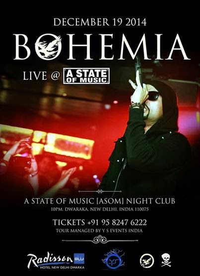 BOHEMIA - LIVE IN INDIA AT A STATE OF MUSIC - DECEMBER 19 2014 - PESA NASHA PYAR - DESI HIPHOP