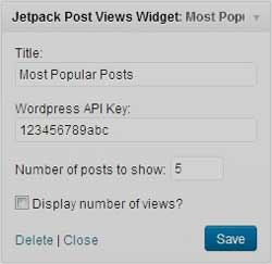 Most Popular Jetpack widget