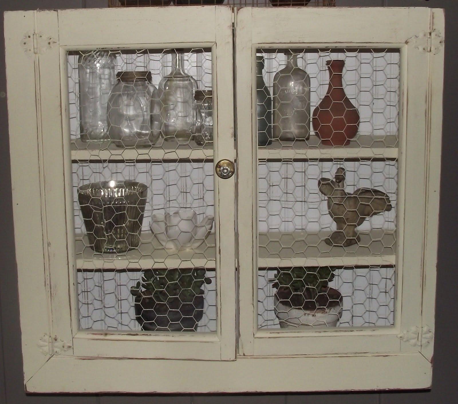 Serendipity Chic Design: Vintage cabinet with chicken wire