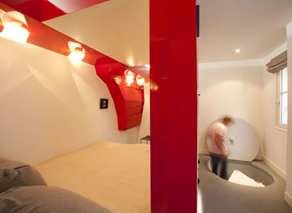 Architecture, Home Design, Amazing Apartment, Apartment, Paris, Red Nest, Small Apartment