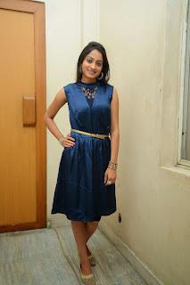 Actress Priyanka Picture Gallery in Silk Short Dress at Taravata Katha Movie Trailer Launch 9