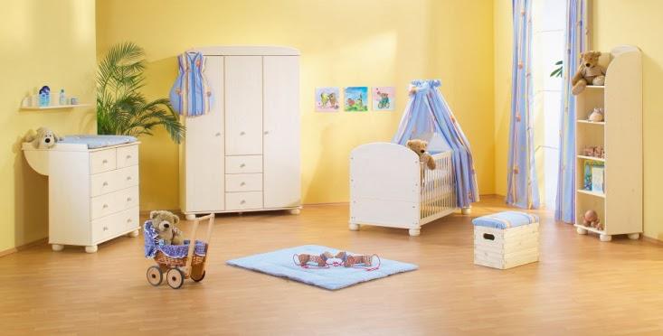 Dormitorios para bebés en celeste y amarillo - Dormitorios ...