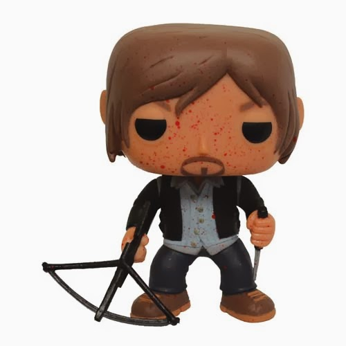 Previews Exclusive The Walking Dead Bloody Biker Daryl Dixon Pop! Vinyl Figure by Funko