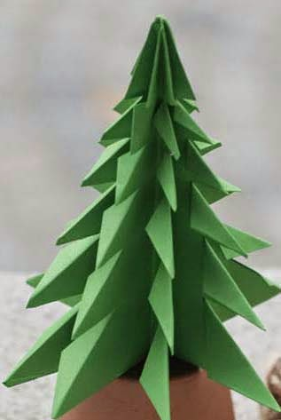 download photos here origami christmas tree 3d - How To Make A Paper Christmas Tree