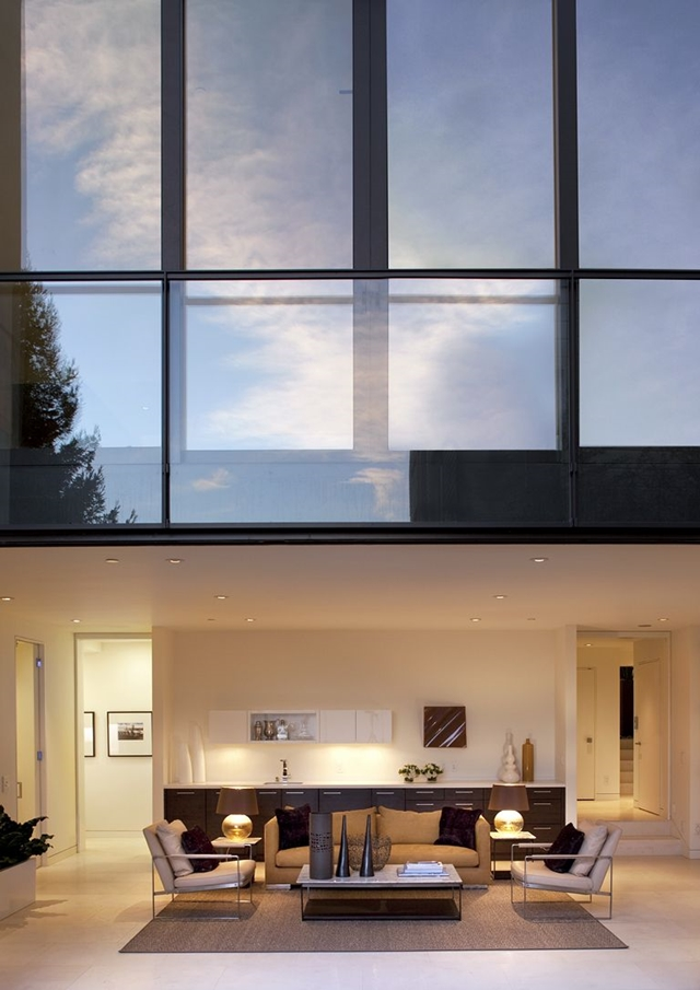 Huge, tall window above the living room