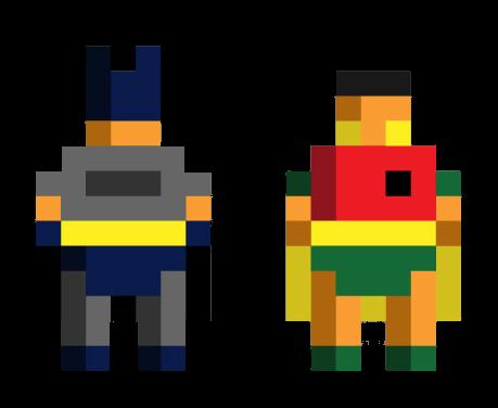 Creative pixel art ideas Batman collection | Minecraft Pixel Art ...