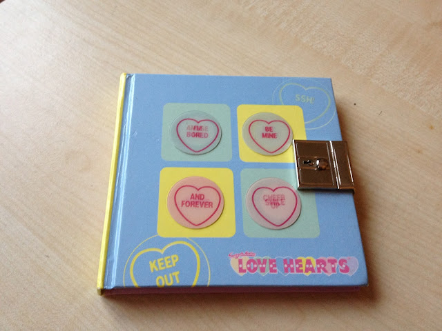 Love Hearts lockable diary