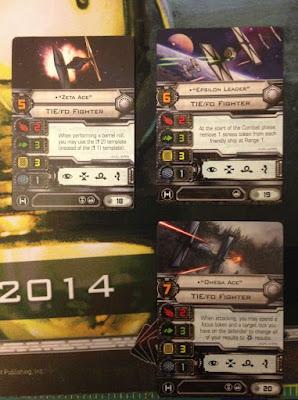 Contenido de la nueva caja de inicio para X-Wing