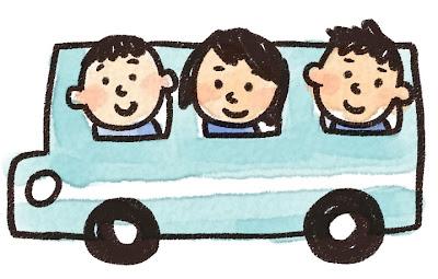 バス旅行・遠足のイラスト