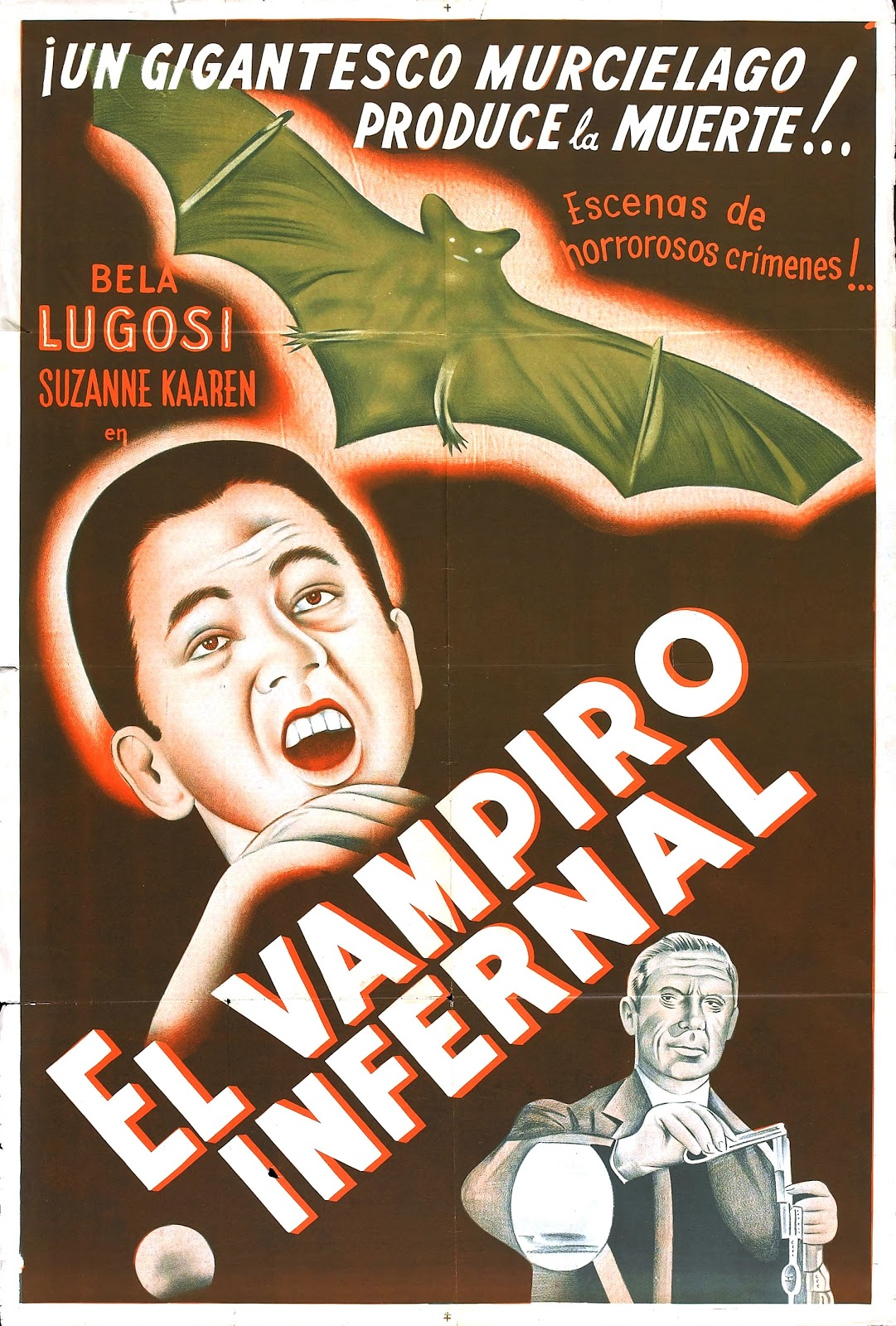 The Devil Bat Foreign Film Poster