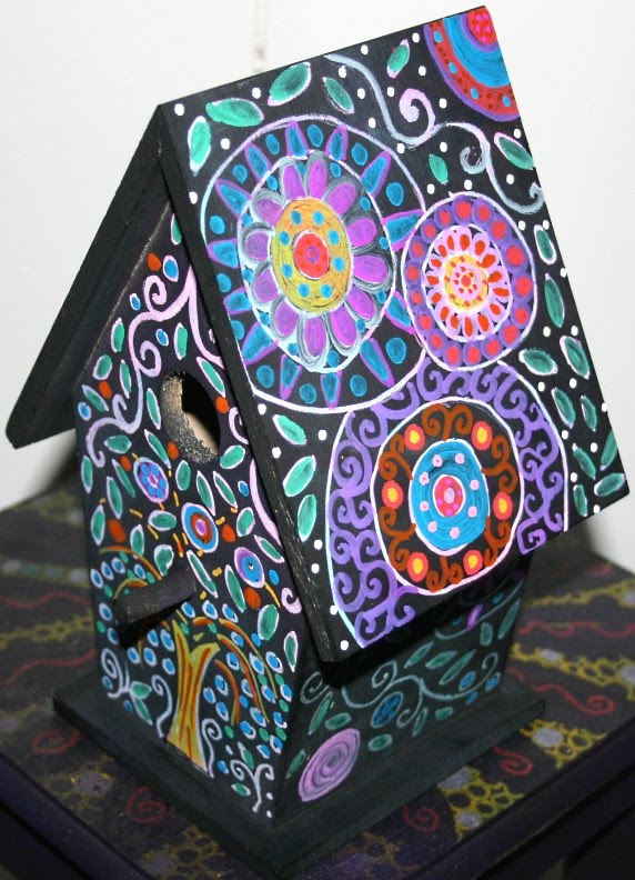 Funky Home Decor Hand Painted Birdhouses