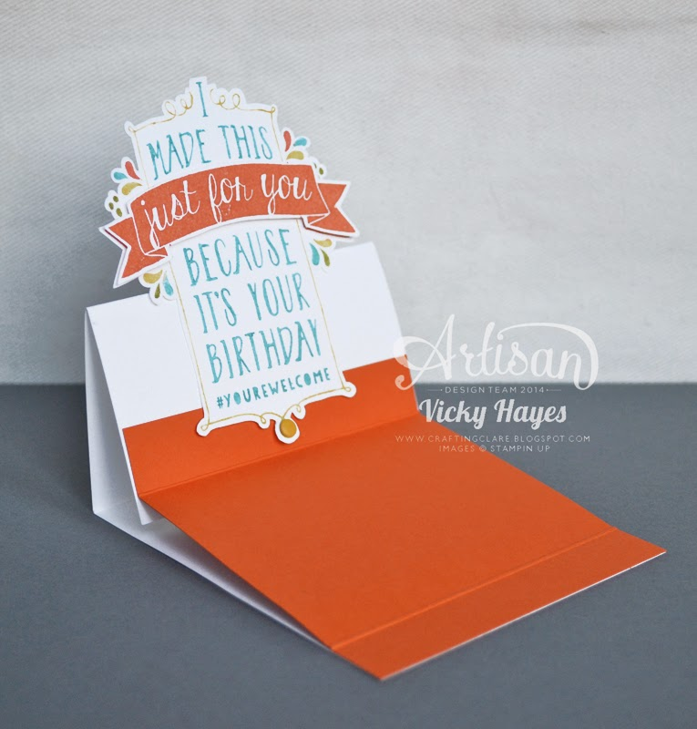 Using Balloon Bash to make an easel card with a difference!