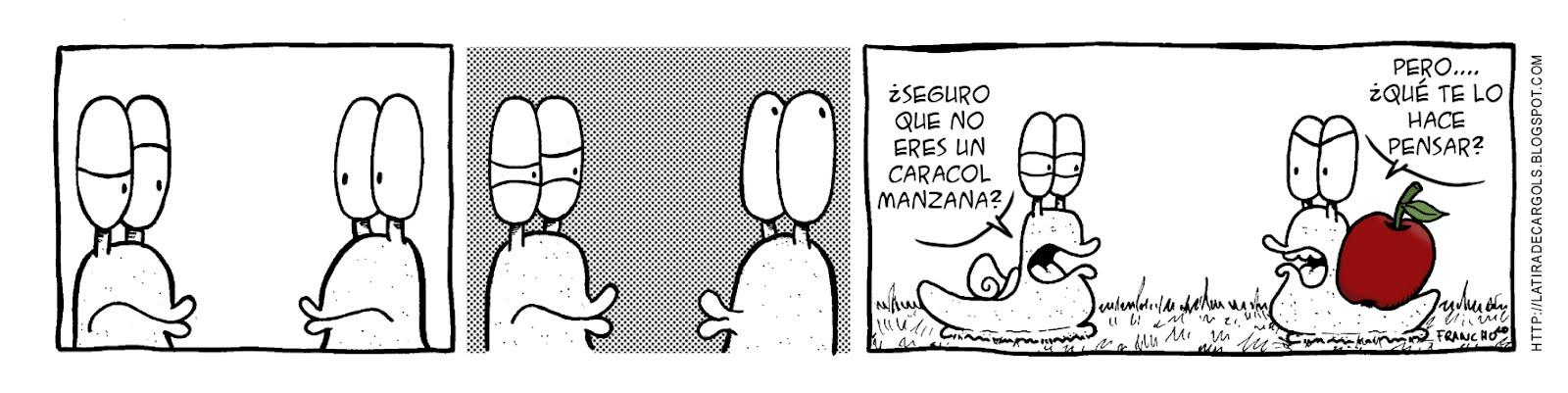 Tira comica 131 del webcomic Cargols del dibujante Franchu de Barcelona