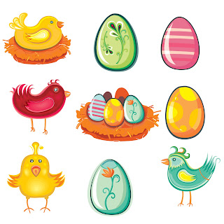 Free Clip Arts Easter eggs & Birds