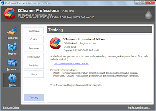 CCleaner Professional 3.20.1750 Full + Crack