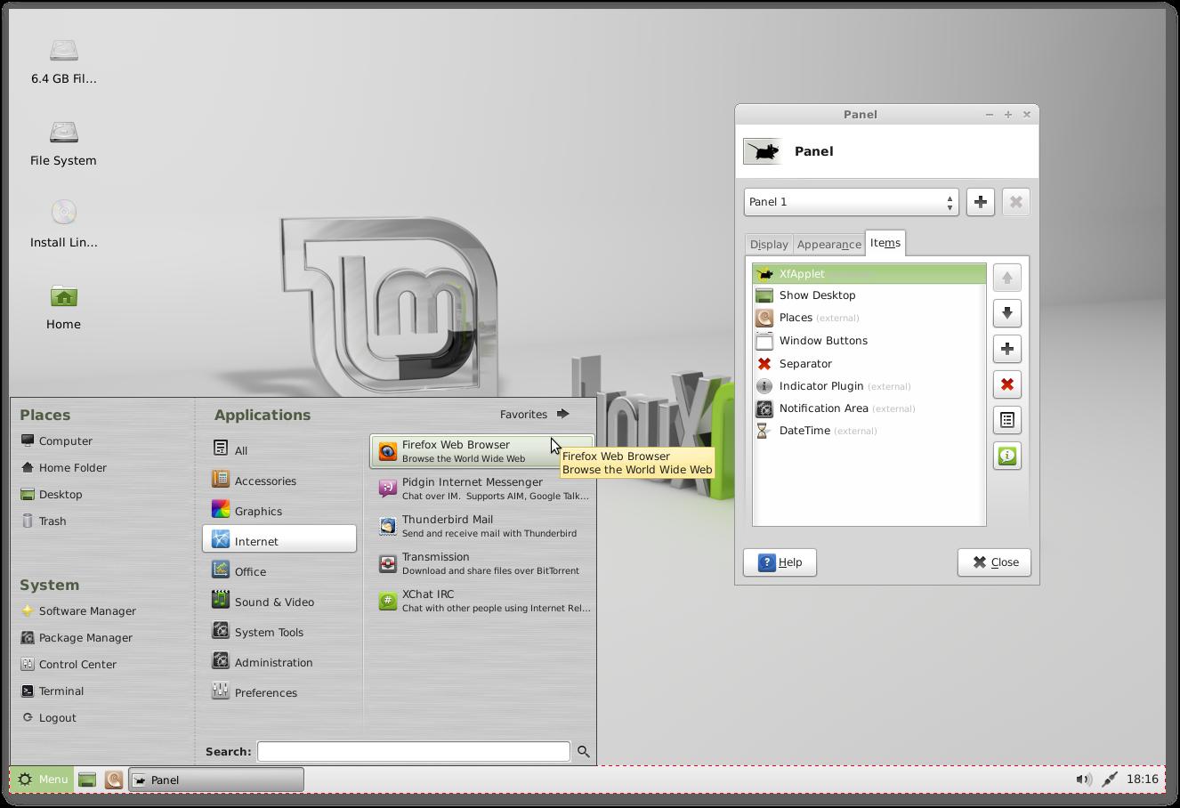 Linux Mint GNU/Linux, FLOSS