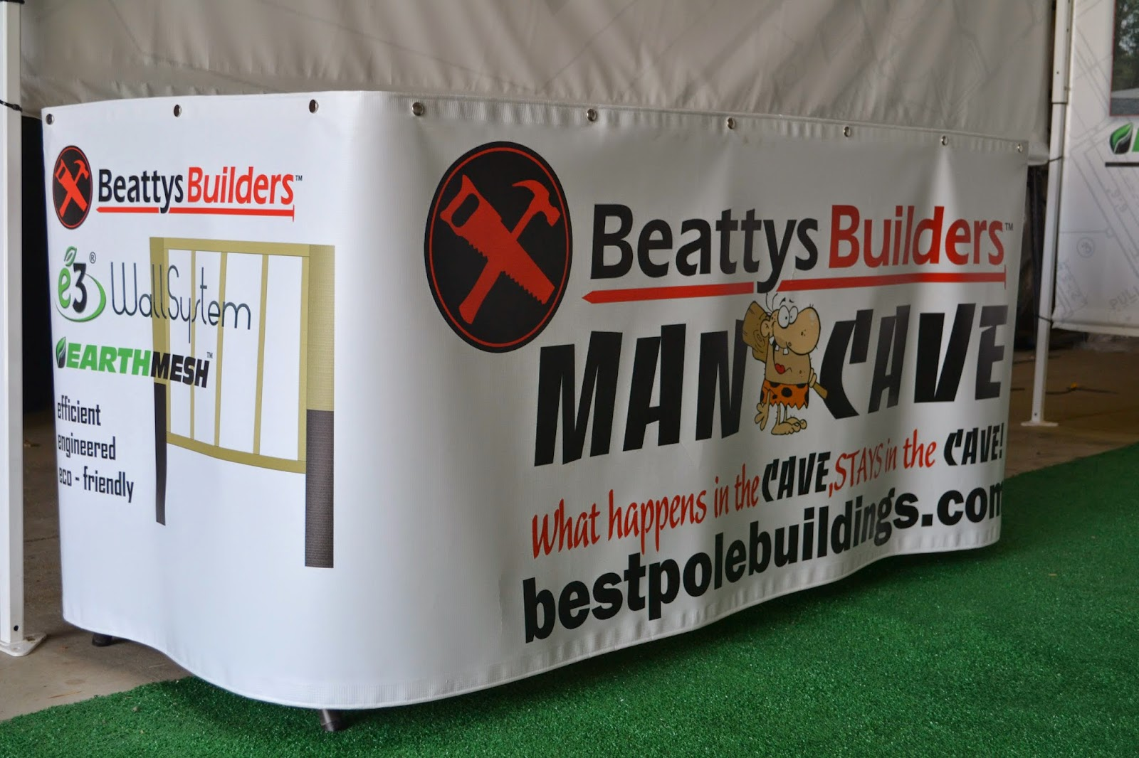 Banner for Beattys Builders Trade Show Display | Banners.com
