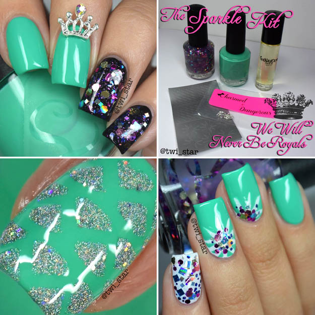 The Sparkle Kit - We Will Never Be Royals polish box swatch review