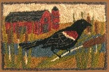 "Red Wing Blackbird Punchneedle Pattern 6"" by 4"""
