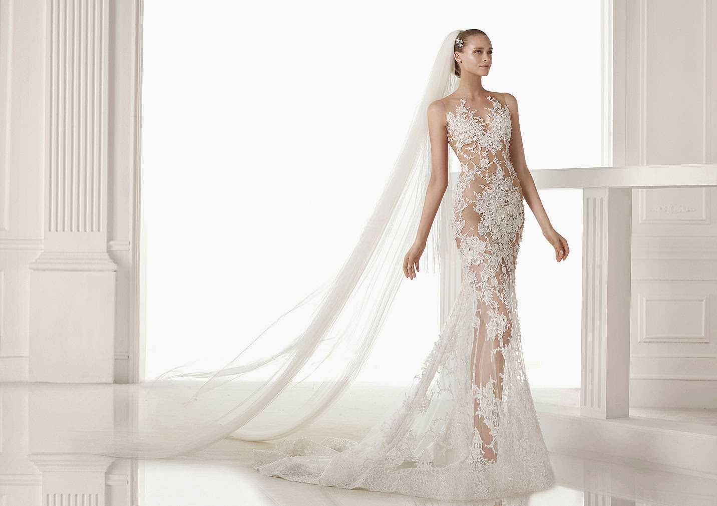 I am a Woman in Love 2015 Wedding Dresses Lace Mermaid