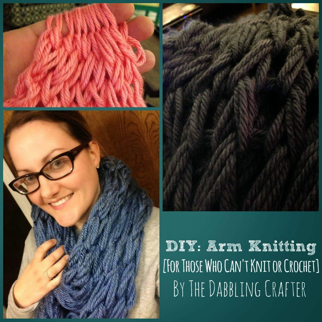 Finger Knitting Urban Dictionary : The dabbling crafter show tell arm finger knitting