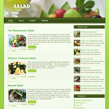 Salad blogger template