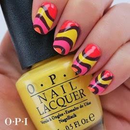 Nail Art esmaltes de uñas Opi Brazil vídeo tutorial