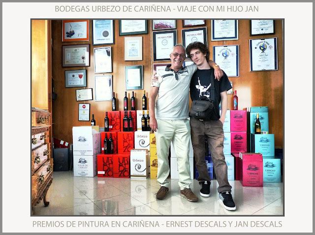 CARIÑENA-PINTURA-PREMIOS-ARAGON-ESPAÑA-CONCURSO-BODEGAS URBEZO-FOTOS-VIAJAR-JAN DESCALS-PINTOR-ERNEST DESCALS-