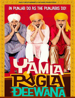 Poster Of Bollywood Movie Yamla Pagla Deewana (2011) 300MB Compressed Small Size Pc Movie Free Download worldfree4u.com