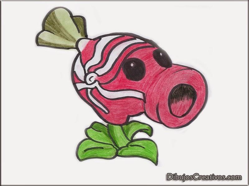 dibujos pintados de PLANTA DULCE PLANTAS VS ZOMBIES