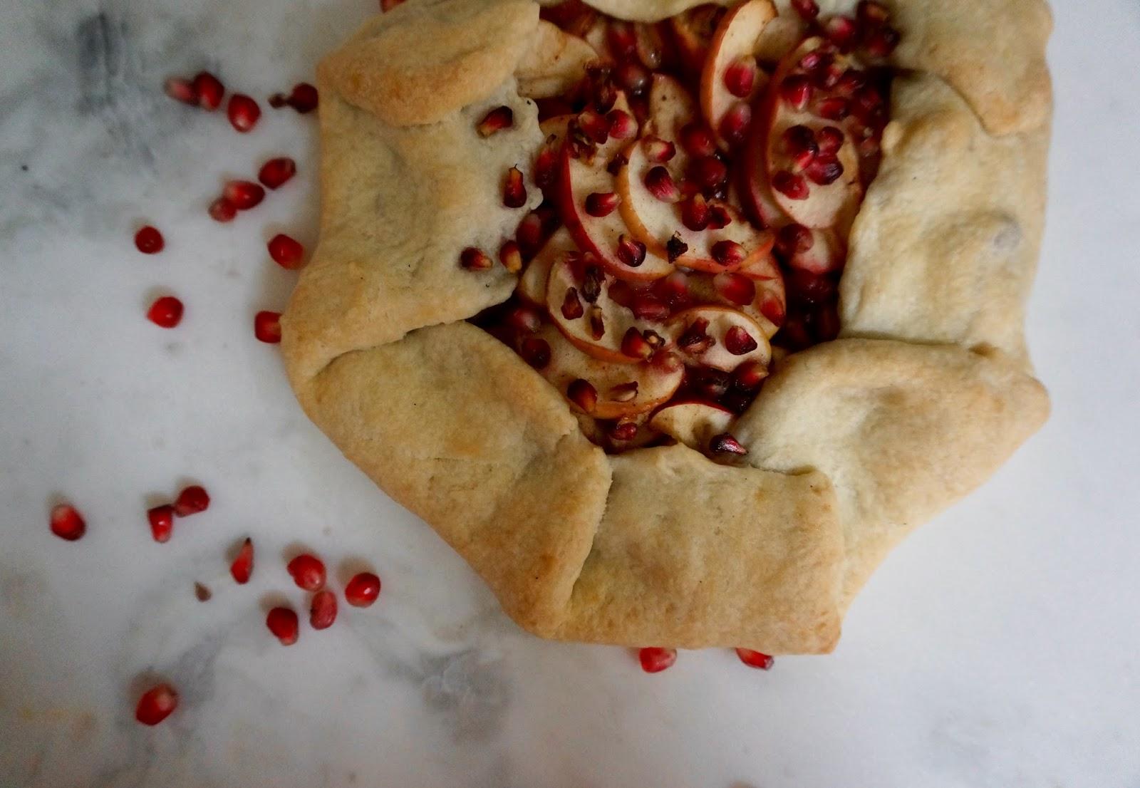pomegranate & Apple Galette - greysuede.com
