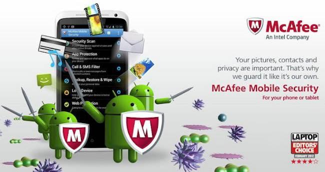 McAfee Antivirus untuk Android Gratis & Terbaik