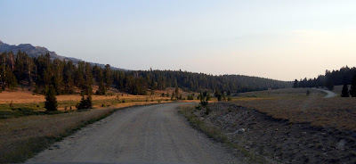 Free dry camping on Forest road 29 in Bighorn National Forest in Wyoming