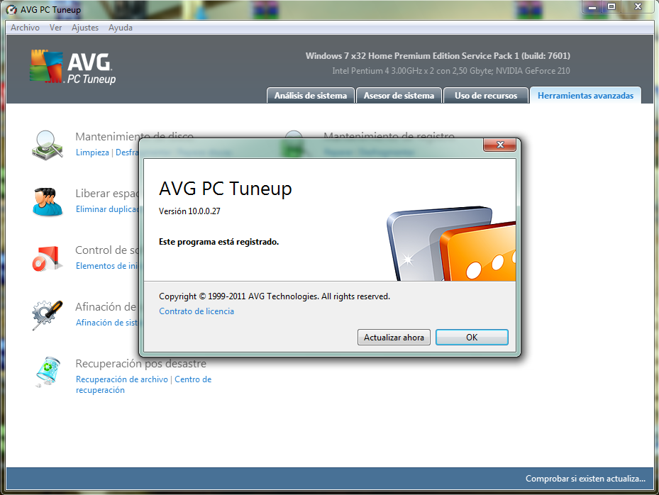 Keygen AVG PC Tuneup 2012.