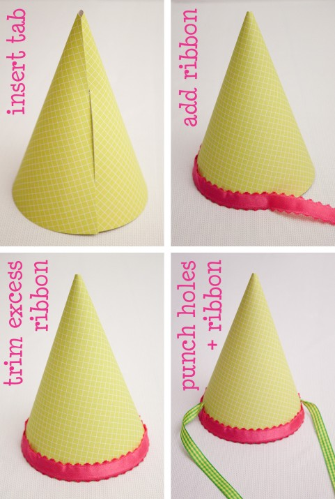 Tutorial  Lil  Party Hat   Piggy Bank Parties BlogParty Hat Template  Printable Party Hat For Any Occasion 57 Best  . Diy Party Hats Template. Home Design Ideas