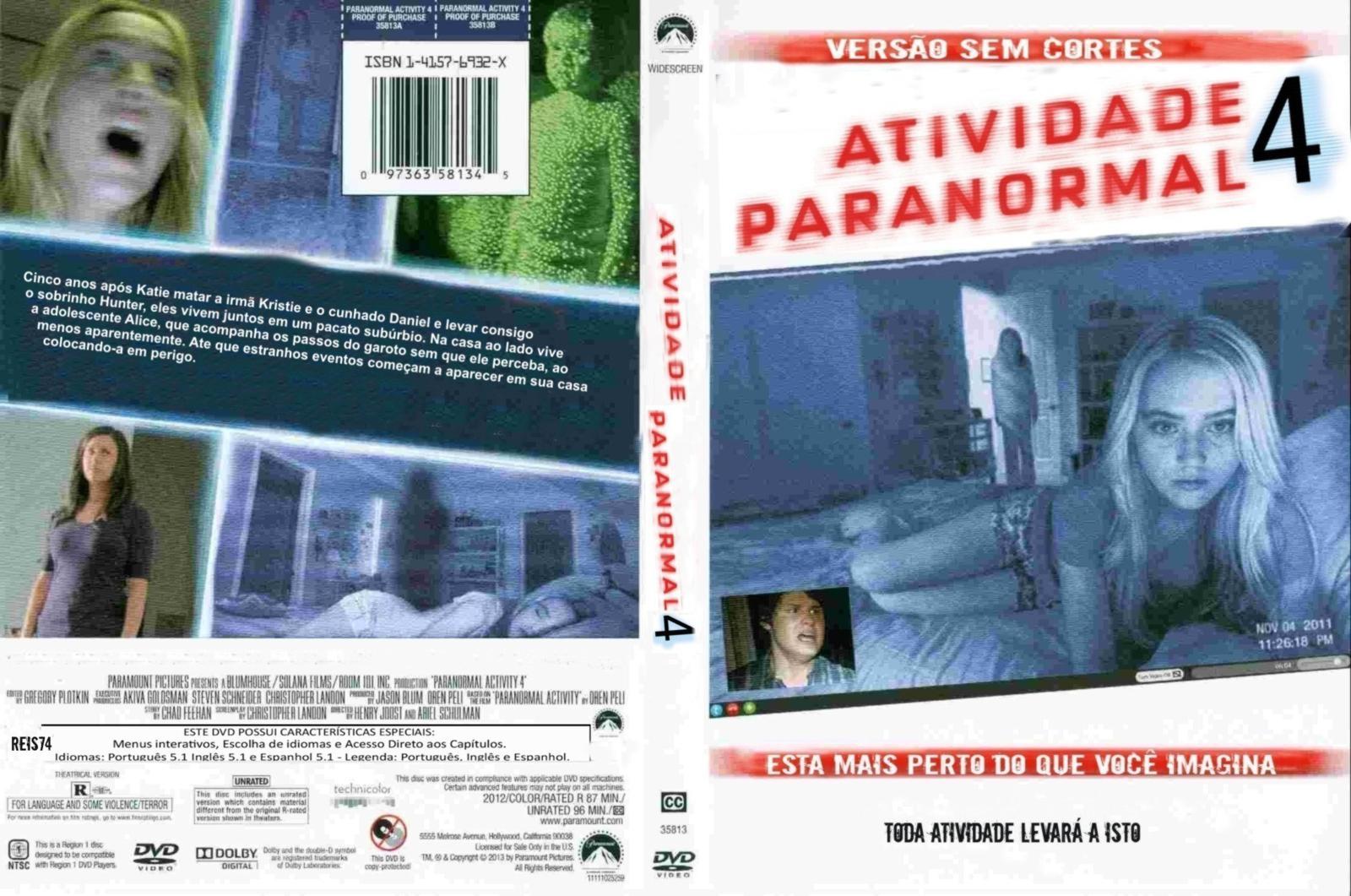 Capa DVD Atividade Paranormal 4