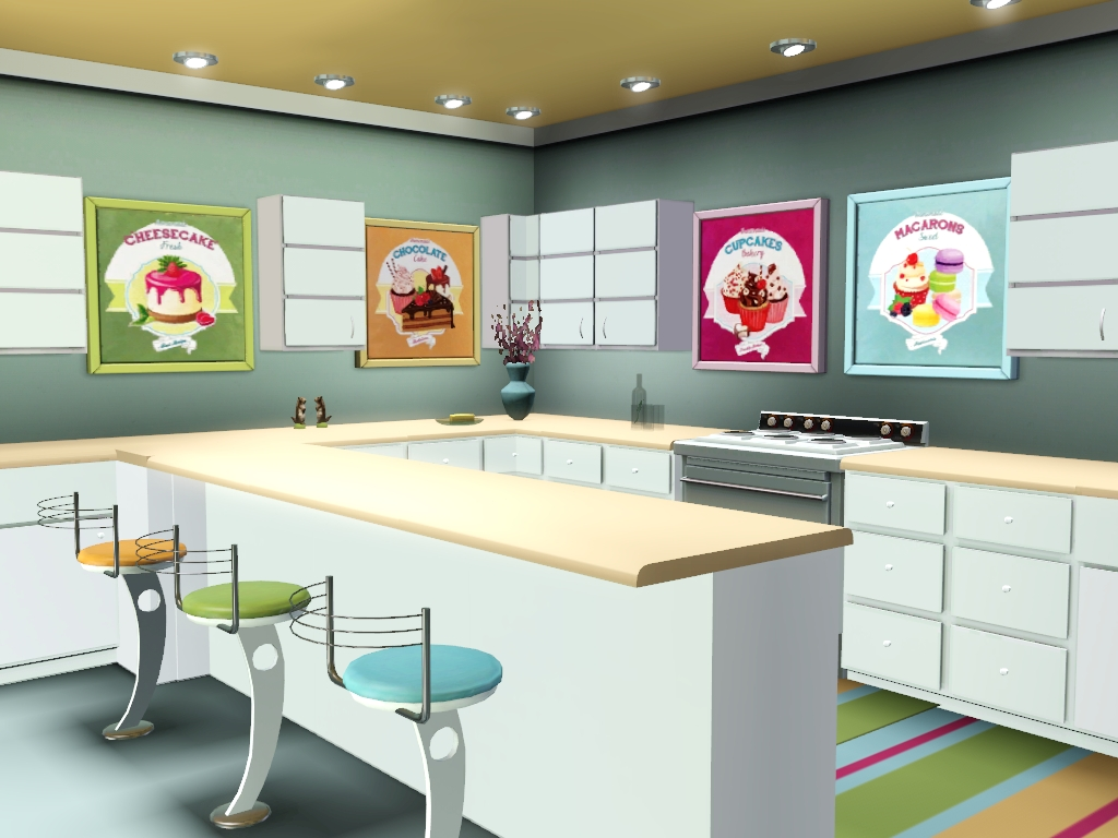 Sims 3 Kitchen Sims And Just Stuff Just Desserts Paintings For Sims 3 By Abigail