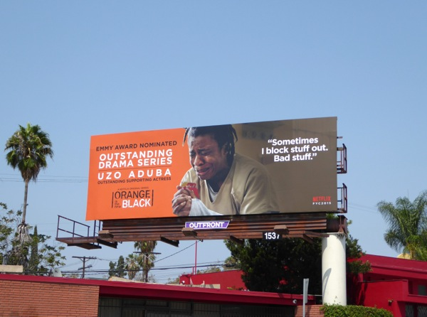 Orange is the New Black Uzo Aduba 2015 Emmy billboard