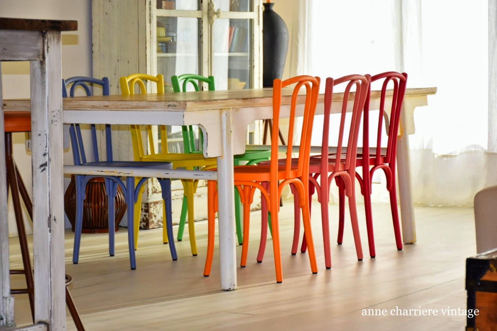 www.annecharriere.com, anne charriere vintage, pintar sillas de café,