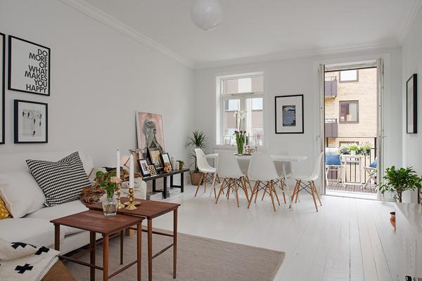 Rocco en mi sofa inspiraci n piso n rdico con toques de color - Decoracion salon gris y blanco ...